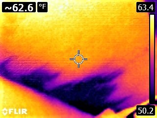 Cold Water Leak Above Drywall Ceiling