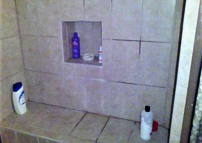 Water Behind Shower Tile Not Visible