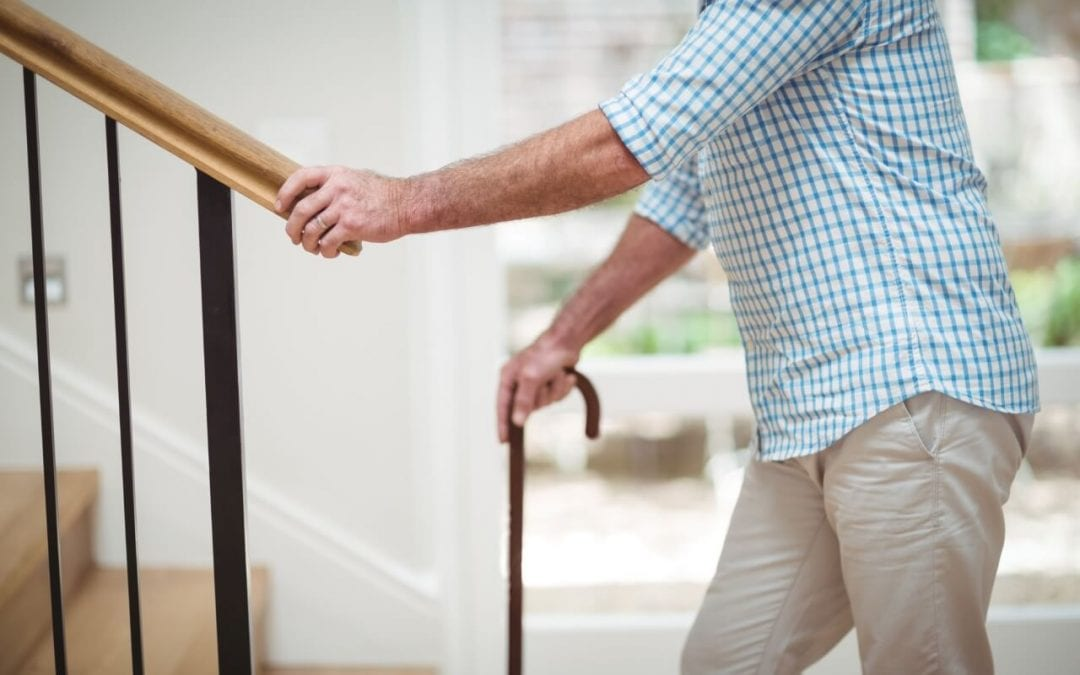 a safe home for seniors includes sturdy stair railings